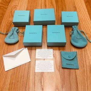 Tiffany & Co. Jewelry - Set of empty Tiffany & Co boxes and pouches